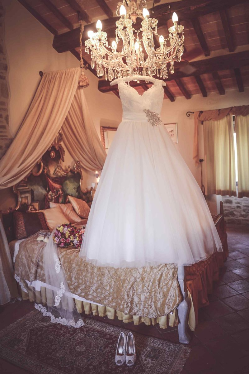 Everything is in place for the bride's getting ready. italy wedding venues