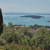 Garden villa wedding Italy. View over Lake Trasimeno and the Islands directly from the Villa.