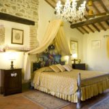 The Master bedroom in the Wedding Suite. italy wedding venues