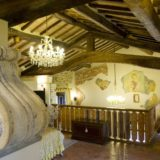 italy wedding venues. details of the afrescoed in the Wedding Suite chapel.