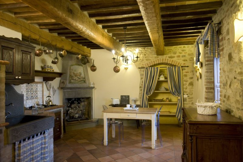 The kitchen area in the wedding suite. italy wedding venues