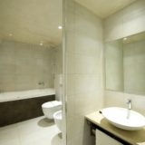 italian wedding villas. Elegant bathroom, with shower unit and Jacuzzi tub.