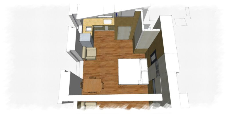 Villa 5, a graphic view of the apartment.weddings tuscany