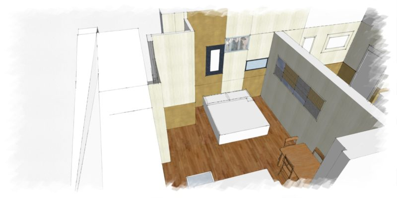 Villa 5, a graphic view of the apartment. weddings tuscany