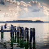Bride and groom photo session, Lake Trasimeno