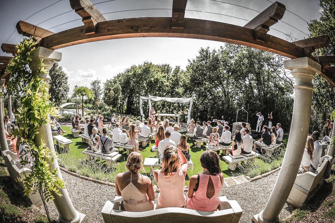 Outdoor Wedding Villa Italy. a-nice-view-of-a-legally-binding-ceremony-in-the-garden-temple-at-villa-san-crispolto