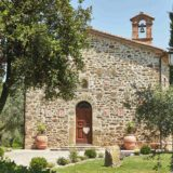Italy Villa sleeps 30 40 people. The facade of Wedding villas Italy San Crispolto chapel
