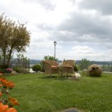 Cozy and relaxing moment with a glass of wine and admire Tuscany views.villa wedding Italy