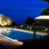 Outdoor Wedding Villa Italy. the-pool-at-night-time
