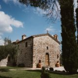 Villa San Crispolto, entrances to the wedding suite and villas 4 and 5