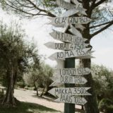 Sign board at Villa San Crispolto