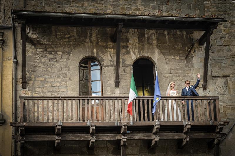 Tuscany Wedding - Cortona Town Hall 12