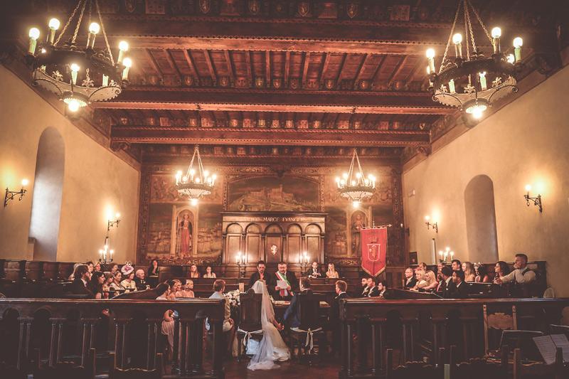 Tuscany Wedding - Cortona Town Hall 15