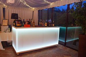 Lighted Counter Bar White