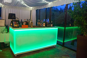 Lighted Counter Bar Green