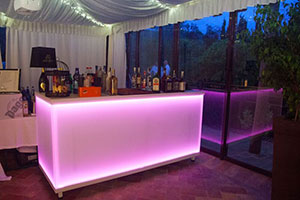 Lighted Counter Bar Pink