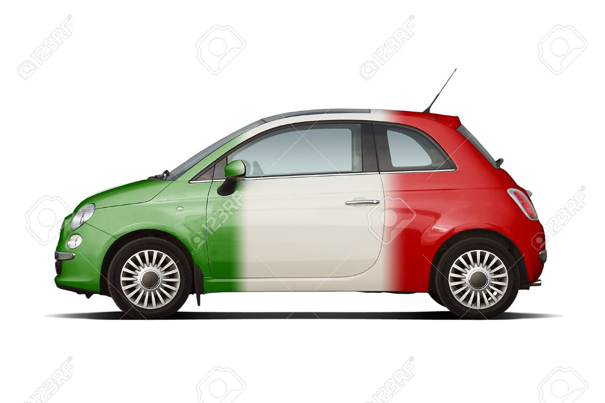 1 week rental Free of Charge of a FIAT 500 THREE COLORED ITALIAN FLAG