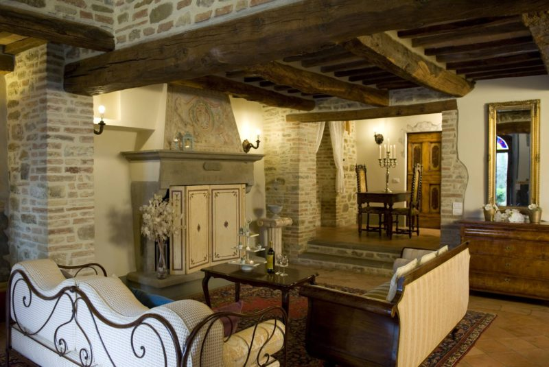 Part of the living area in the wedding suite. italy wedding venues