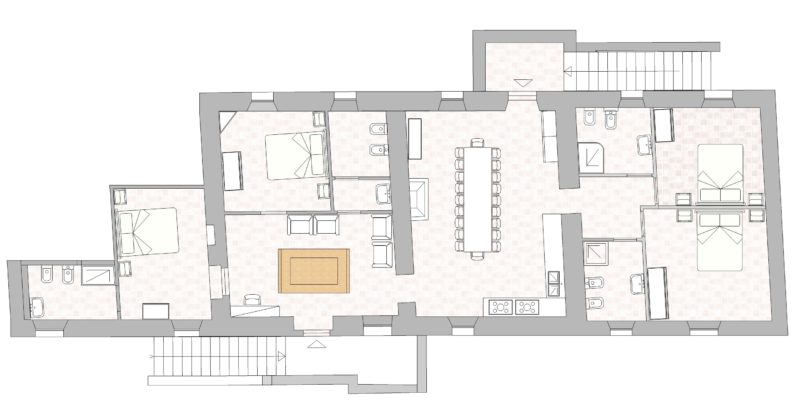 villa-1 Floor Plan.villa wedding Italy