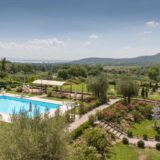 The Pool area and magnificent garden of Villa Baroncino.