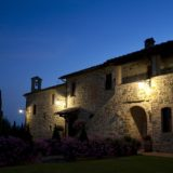 Wedding villas Italy San Crispolto at night.