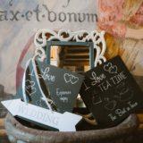 Wedding decorations at villa San Crispolto