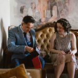 Bridesmaid and groom at Villa San Crispolto