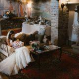 Bride and her daughter, Villa San Crispolto chapel