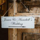 Wedding sign decorations, Villa San Crispolto