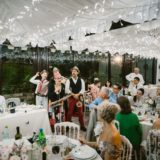 Traditional Italian Folk Band in the marquee of villa San Crispolto