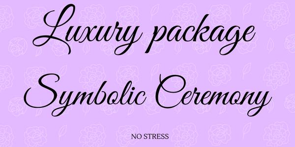 Luxury package symbolic ceremony